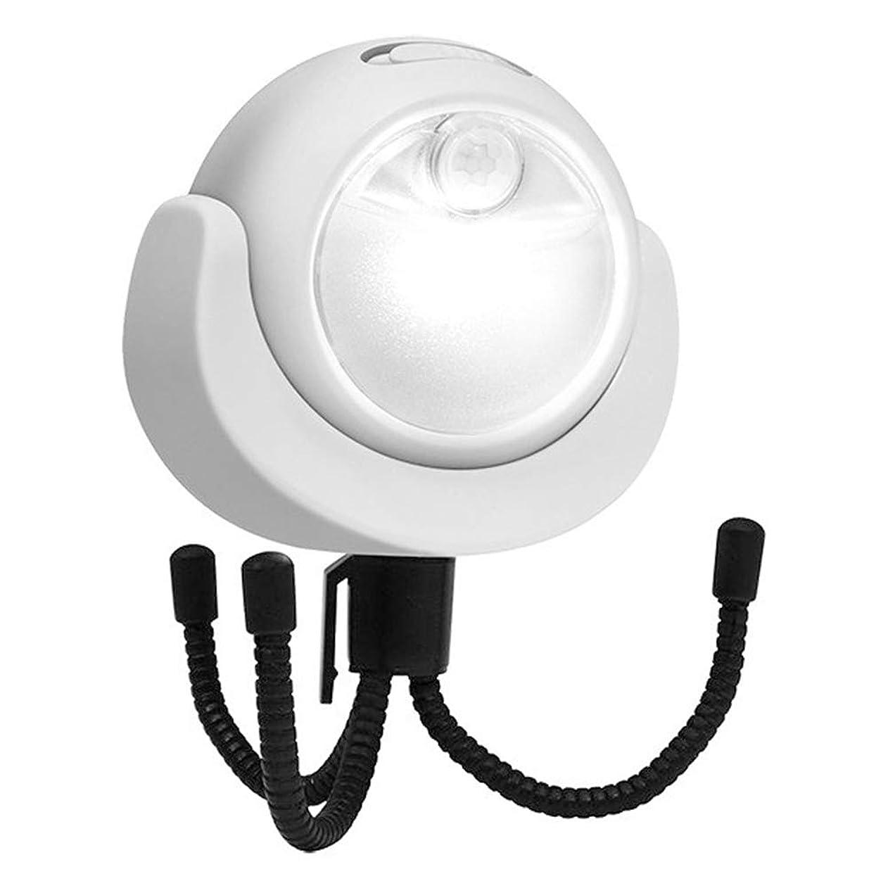 気まぐれなモデレータズームインするLEDセンサーライト 人感センサー マグネット付き 丸型 乾電池式 配線不要 設置自由自在 自動点灯 消灯 360度調節可能 省エネ 玄関 廊下 倉庫 足元灯
