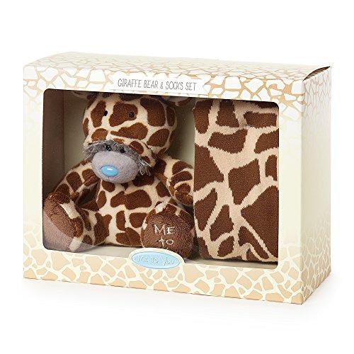 Me To You AGZ01018 Giraffen-Einteiler, Bär und Socken, Geschenkset