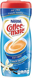 Coffee Mate Coffee Creamer Fat Free French Vanilla, 15 Ounce (Pack of 6)