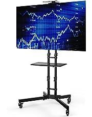 Loctek テレビスタンド 32~65インチ液晶テレビ対応 高さ調整 キャスター付き 棚板付き 移動式 壁寄せテレビ臺 P3B