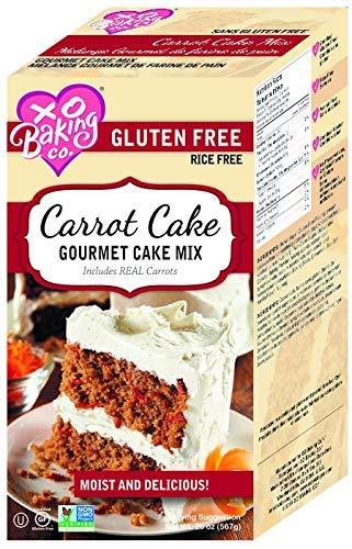 XO Baking Gourmet Carrot Cake Mix - Flavorful Gluten-Free Carrot Cake - Two Layers (20oz)