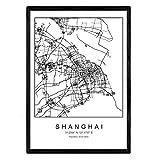 Nacnic Stadtplan Blatt Shanghai skandinavischer Stil in