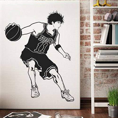 jiushizq DIY Vinyl Cartoon Slamdunk fluss Chuan ahorn wandaufkleber, Schlafzimmer wohnheim Basketball klassenzimmer dekorative Aufkleber weiß s 75x58 cm