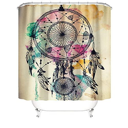 Colore vernice e nero ghirlanda modello doccia tenda impermeabile antimuffa bagno doccia poliestere 180X180CM