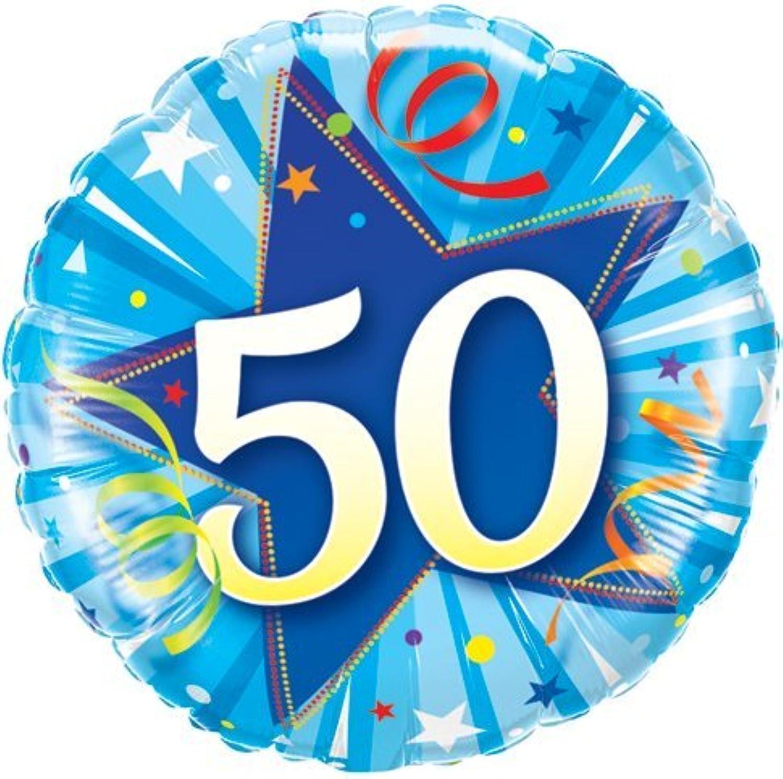 Qualatex Shining Star bluee Age 50 50th Birthday 18 Foil Balloon by Unknown