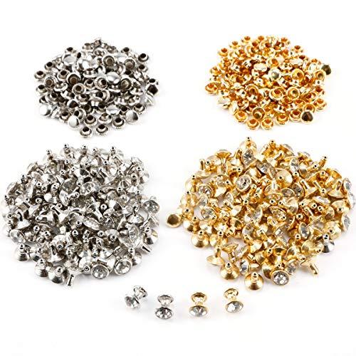 Surepromise 200x 7mm Crystal Rhinestone Diamond Diamante Studs Leathercraft Rivet Spikes