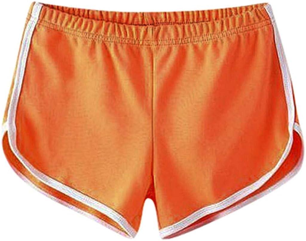 ZEFOTIM Women Casual Solid Summer Sports Shorts Workout Yoga Shorts Active Shorts