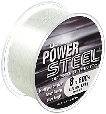 Ultima Unisex E0070 Power Steel Super Strong Mono Fishing Line, Crystal, 0.25 mm-8.0 Lb by Ultima