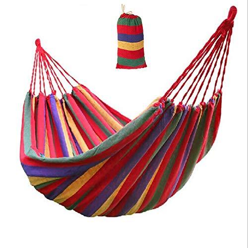 DKDYBR Suministros Camping Hamaca AlgodóN Doble Hamaca Lona Simple Silla De Hamaca - VersáTil - Cuelga En Interiores O Exteriores ConstruccióN 200 * 80cm,Rojo