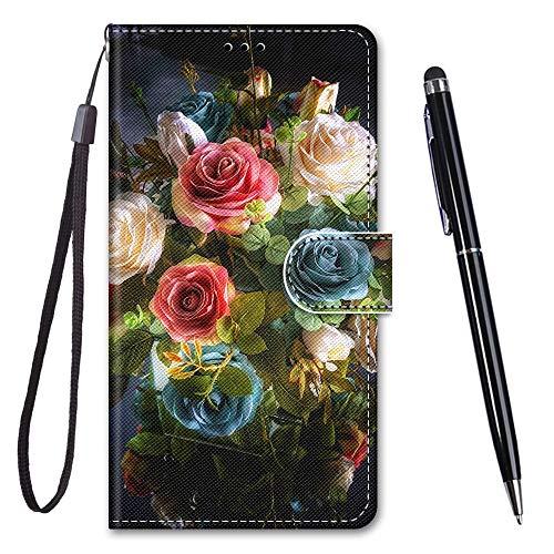 TOUCASA für iPhone 6S Hülle, Handyhülle für iPhone 6,Premium Brieftasche PU Leder Flip [Kreativ Gemalt] Case Handytasche Klapphülle für Apple iPhone 6S / iPhone 6 (4,7 Zoll),Rosenstrauß