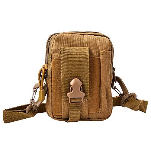 HoYiXi Taktische Hüfttaschen Multifunctional Gürteltaschen mit Handy-Tasche für Radfahren Klettern Angeln Wasserdicht Outdoorsport Kompakt und Leicht Bauchtasche-Erdfarben