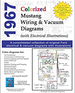 [SCHEMATICS_4CA]  1967 Colorized Mustang Wiring Diagrams - Kindle edition by Motor Company,  Ford. Crafts, Hobbies & Home Kindle eBooks @ Amazon.com. | Ford Motor Wiring |  | Amazon.com