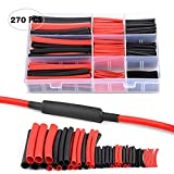 Nilight Heat Shrink 2:1 Electric Insulation Tube Kit 45mm Flame Retardant Wrap Cable Sleeve 560pcs 5 Colors 12 Sizes with Storage Box,2 Years Warranty