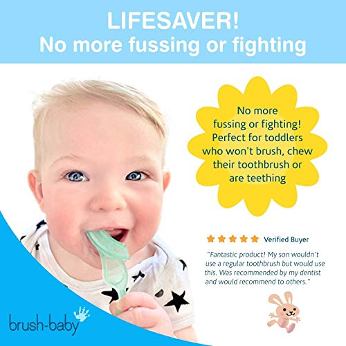 Brosse à dents souple à mordiller Brush-Baby pour bébés et nourrissons | Dentition Bébé Stade...