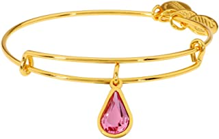 Alex And Ani Rose Crystal October Birthstone Gold Bracelet A18EB49SG