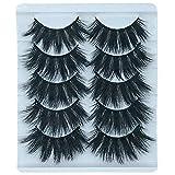 5 Pairs Exaggerated 3D False Eyelashes Thick Eyelashes Extension Long Lashes With Volume for Women's Make Up Handmade Soft 3D Fake Eyelash (K504)