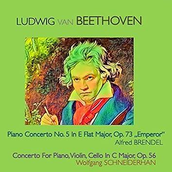 """Ludwig van Beethoven - Piano Concerto No.5 in E Flat-Major Op.73 """"Emperor"""" · Concerto for Piano, Violin, Cello in C Major, Op.56"""