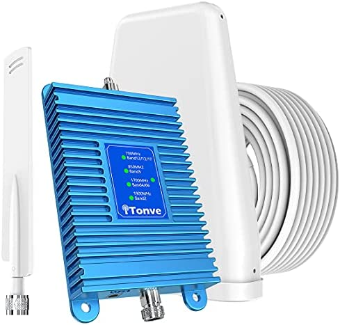 Cell Phone Booster for Home – Up to 3,000 sq ft, Cell Phoen Siganl Booster kit, Boost 5G 4G LTE 3G GSM Signal for Verizon, AT&T, T-Mobile, Sprint & More Supports All US Carriers | FCC Approved