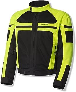 Olympia Newport Mens Mesh Tech On-Road Racing Motorcycle Jacket Neon Yellow Large