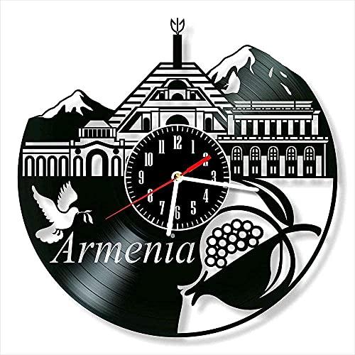 Reloj de Pared con Disco de Vinilo armenio, decoración única del hogar, Regalos Hechos a Mano, Hombres, Mujeres, Amigos, niños