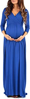 Women's Wraped Ruched Maternity Dress - Made in USA - - Large