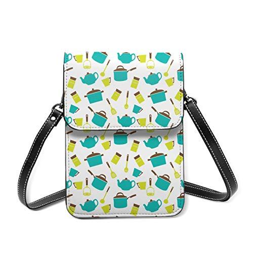 Bolso de teléfono para mujer, bolso de hombro, mini cartera de bloqueo Rfid con soporte para tarjetas, color Blanco, talla Talla única