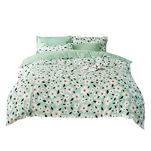 Bettbezug Set, DOTBUY Modern Bettwäsche-Set 3 TLG Bettwäsche Set Polyester Super Weiche mit Reissverschluss Atmungsaktive Bettbezug Kissenbezüge Bettlaken (Duftende Blumen,220x240cm)