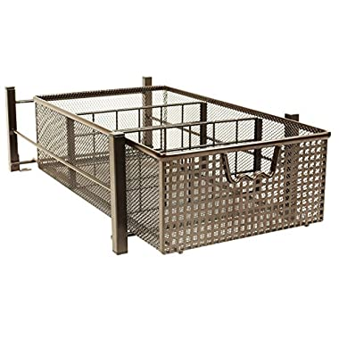 DecoBros Mesh Cabinet Basket Organizer, Bronze (Medium - 9.4 x 15.3 x 5)