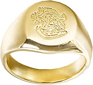 Golden Ring The Secret Service Gold-Plated Copper Ring Cosplay Prop for Men Boys