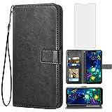 Asuwish Kompatibel mit LG V50 ThinQ Wallet Case Tempered