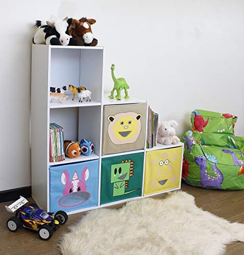 HomeZone® White 6 Cube Storage U...