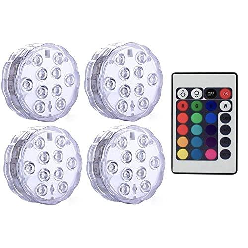 Unterwasser-LED-Pool-Licht, geeignet für oberirdische Pools, IP68, wasserdicht, Unterwasser, 13 LED-Perlen, 3000 K, 16 dynamische RGB-Farben