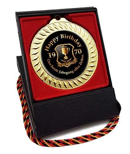 RAHMENLOS Medaille Orden zum 50. Geburtstag - Der Beste Jahrgang Aller Zeiten