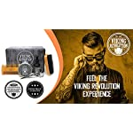 Viking Revolution Beard Care Kit for Men - Ultimate Beard Grooming Kit includes 100% Boar Men's Beard Brush, Wooden… 5