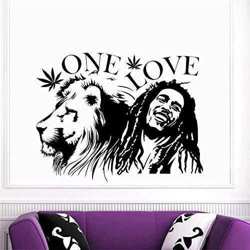"""Bob Marley Lion Zion\""""One Love\"""" Vinilos decorativos Habitaciones para el hogar Vinilos decorativos especiales Vinilos decorativos Reggae Singer Portait Series"""