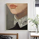 wZUN Figura neoclásica Pintura Cartel nórdico Lienzo Pintura Restaurante Arte de la Pared Pintura Sala de Estar decoración del hogar 60x80 Sin Marco