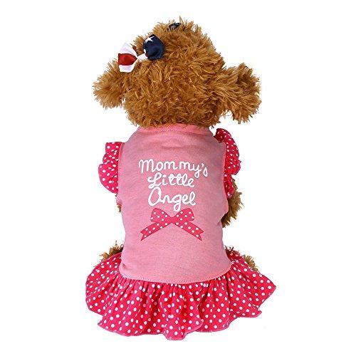 TUDUZ Sommer Pet Kleidung 'Mommy's Little Love' Hund Katze Kleid Rüschen Weste Rock für Kleine Hunde Katze Mädchen Bekleidung Pink (Small, Pink)