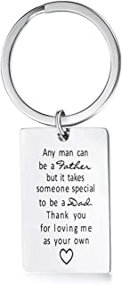 Fathers Day Gifts from Daughter Stainless Steel Dad Keychain Birthday Gift