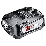 Bosch 18 Volt Ersatz Akku (2,5 Ah, kompatibel mit allen Geräten des grünen Bosch Home & Garden 18 Volt Systems)