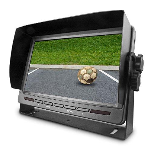 Carmedien 7 Zoll TFT Monitor CM-MRFS72 für Rückfahrkamera Rückfahrsystem Display LCD Bildschirm 12V 24V LED 4X AV In
