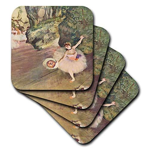 3dRose Edgar Degas Gemälde Take A Bow of Ballerinas – Weiche Untersetzer, 4er-Set (CST_61804_1)