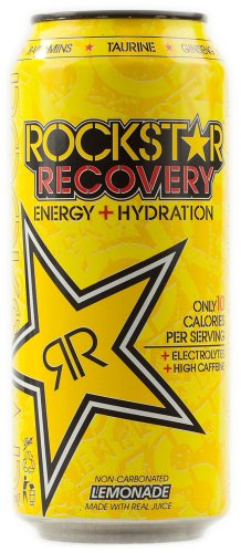 Rockstar Energy, Recovery, Diet Lemonade, 16 Fl Oz