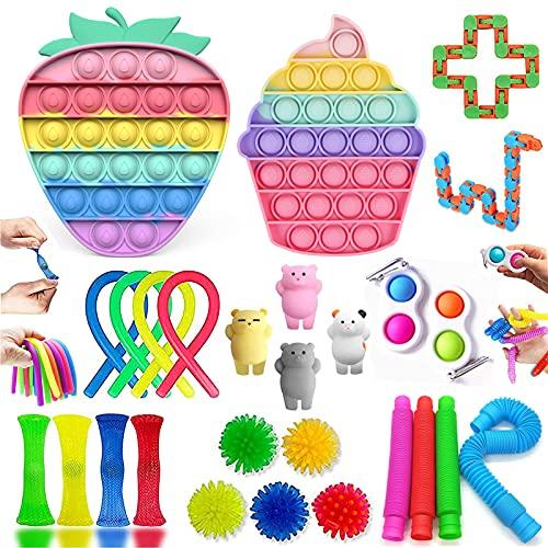 MAFHVV Fidget Toys, Fidget Toy Set Regali Antistress per Bambini, Fidget Toy Packs con P-ù-Sh...
