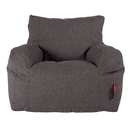 Lounge Pug, Sitzsack Ohrensessel, Interalli Wolle Grau