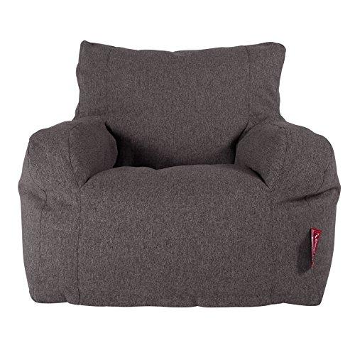 Lounge Pug®, Pouf Fauteuil Design, Poire, Interalli Laine Gris