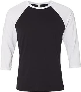 Canvas Unisex 3/4-Sleeve Baseball T-Shirt, BLACK/WHITE