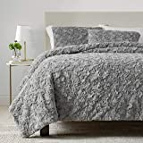 UGG Adalee Comforter Set - Soft and Comfortable Faux Fur Bedding Set, Seal, King