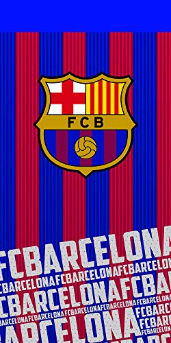 Fc Barcelona Toalla 100% Algodón, Azulgrana 70 x 140 cm ⭐
