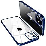 TORRAS Crystal Clear für iPhone 12 Mini Hülle (Vergilbungsfrei, Transparent) Dünn Militärschutz Schutzhülle Flexibles Silikon Kratzfest Handyhülle iPhone 12 Mini Hülle (Blau)