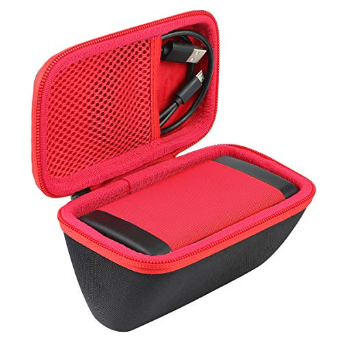 Khanka Hard Travel Case Replacement for OontZ Angle 3 (3rd Gen) Portable Bluetooth Speaker (red Zipper)